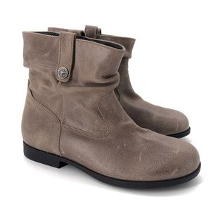 NEW Birkenstock Sarnia Mud Waxed Suede Ankle Boots